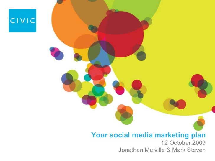 Your social media marketing plan