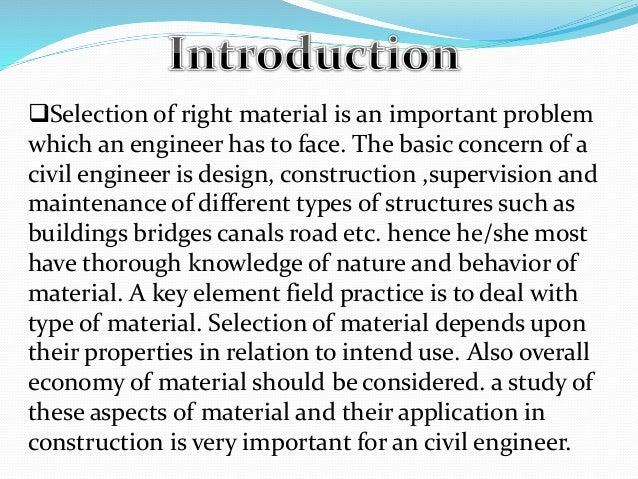 building materials civil 1st sem