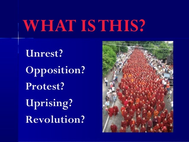 WHAT ISTHIS?Unrest?Opposition?Protest?Uprising?Revolution?