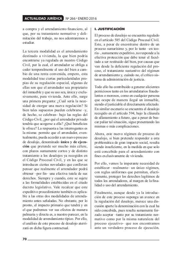 70 ACTUALIDAD JURÍDICA Nº 266 • ENERO 2016 a compra y el arrendamiento financiero, al que, por su tratamiento normativo y d...