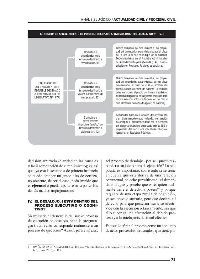73 ANÁLISIS JURÍDICO / ACTUALIDAD CIVIL Y PROCESAL CIVIL decisión arbitraria (claridad en las causales y fácil acreditació...