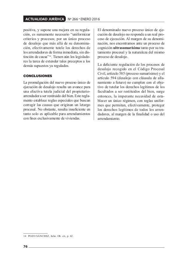 """76 ACTUALIDAD JURÍDICA Nº 266 • ENERO 2016 positiva, y supone una mejora en su regula- ción, es sumamente necesario """"unifo..."""