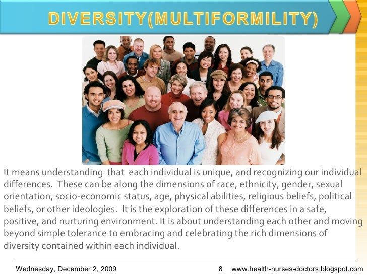 It means understanding  that  each individual is unique,and recognizing our individual differences. These can be alongt...