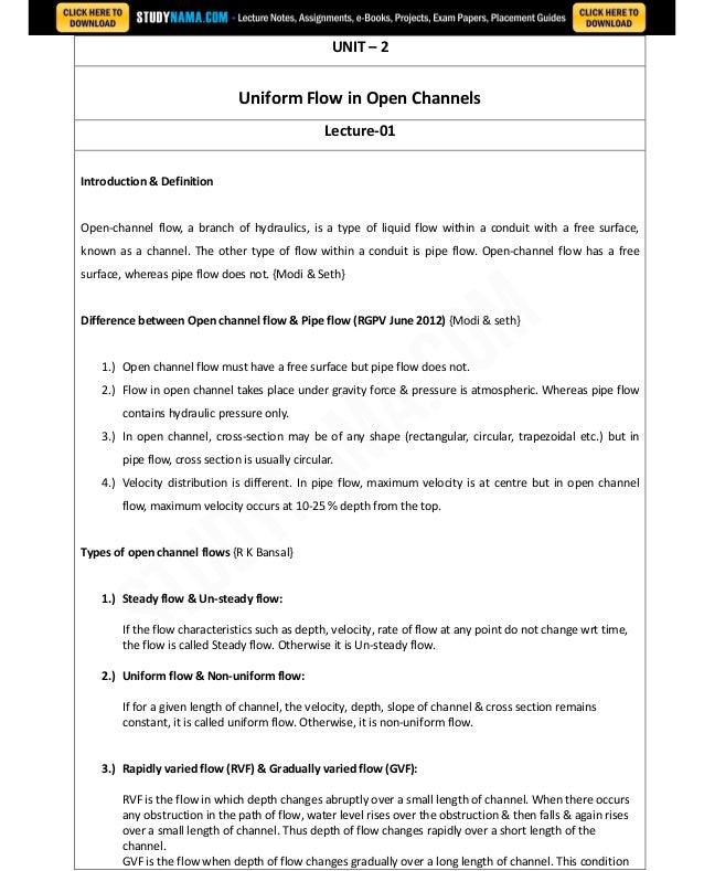 Civil third-year-fluid-mechanics-2 notes, books, e book pdf