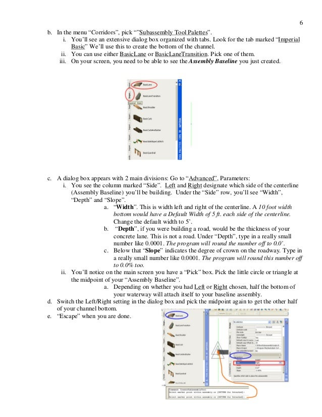 Civil 3d alignments and profile traning