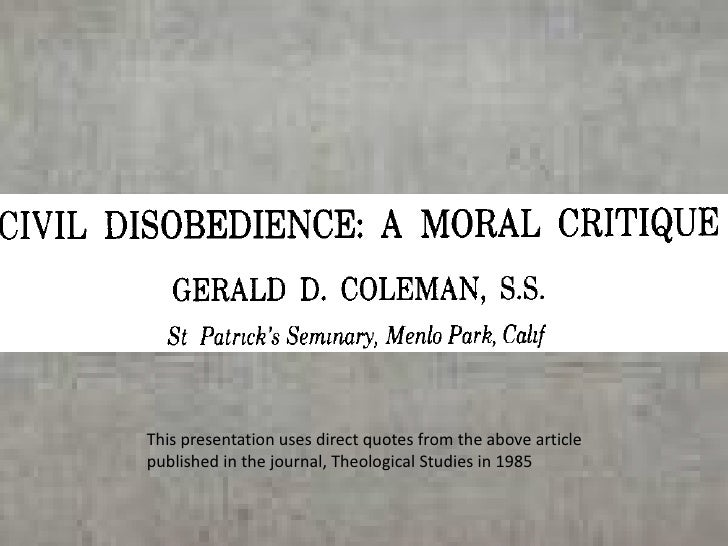 This presentation uses direct quotes from the above article published in the journal, Theological Studies in 1985<br />