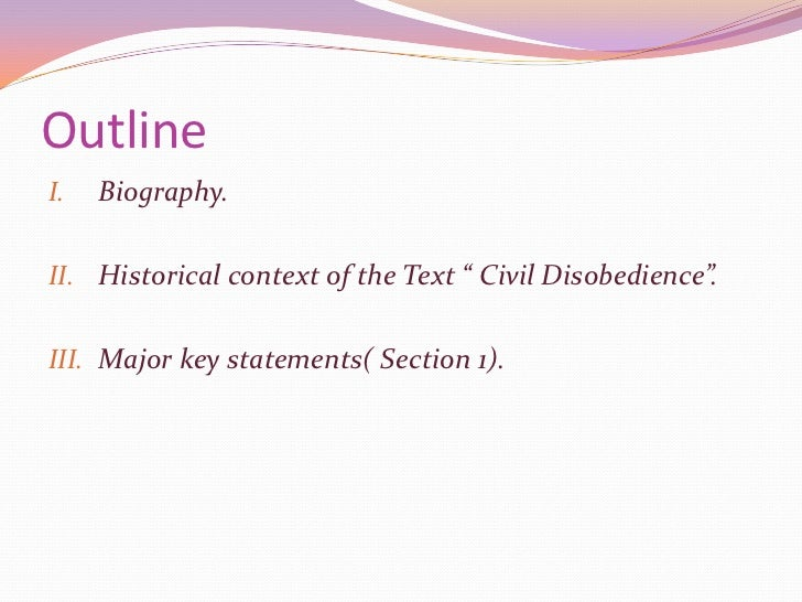 what is the theme of civil disobedience