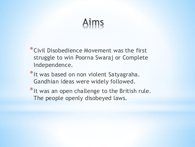impact of civil disobedience movement
