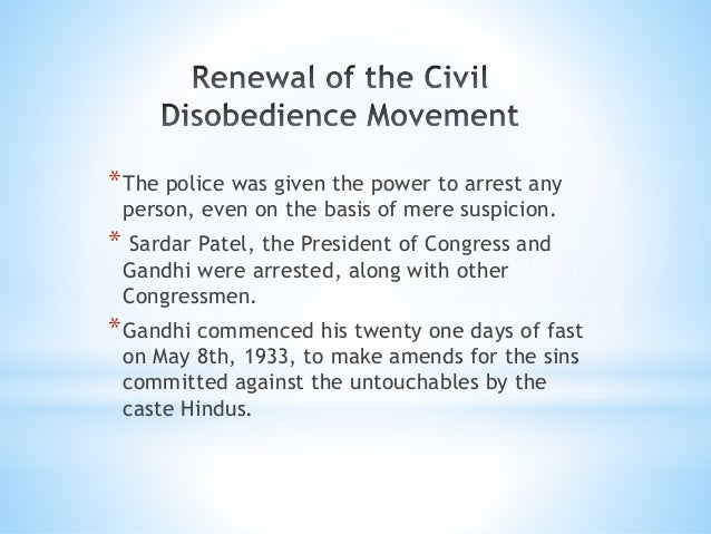 Civil Disobedience Movement Write An Essay On