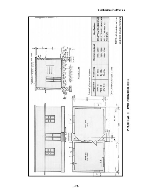 Civil Drawing Front Elevation : Plan and elevation of residential building joy studio