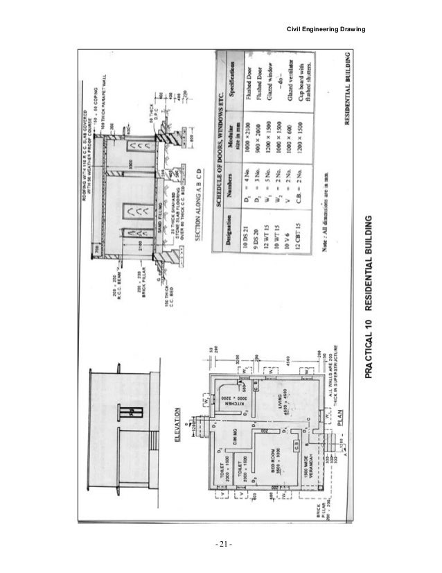 Civil Engineering Drawing PRACTICAL 13 Draw Plan ...