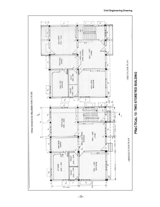civil drawing detail Garage Concrete Slab Design 32