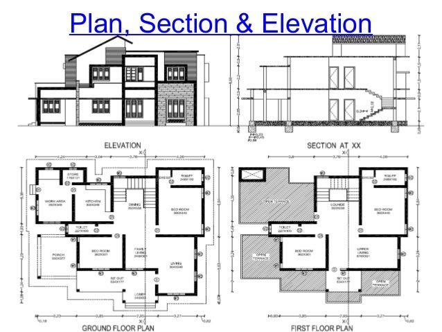 Civil Engineering Plan Elevation Section : Introduction to civil engineering drawing