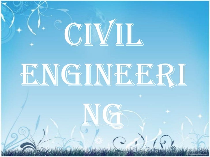 Powerpoint Templates Civil Engineering Background