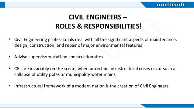 CREDENTIALS that lend you better CIVIL ENGINEERING Jobs – Job Description of Civil Engineer