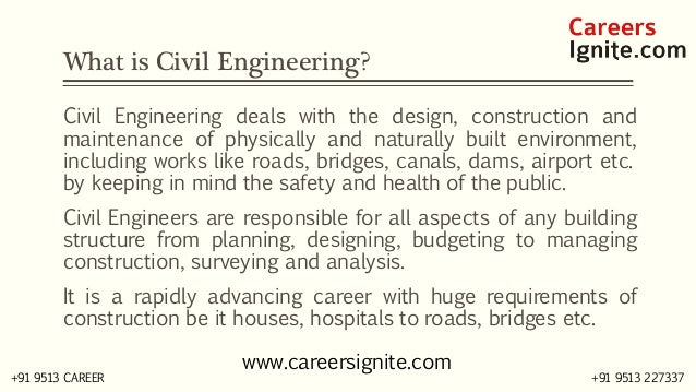 Civil Engineering Courses, Colleges, Eligibility Slide 2