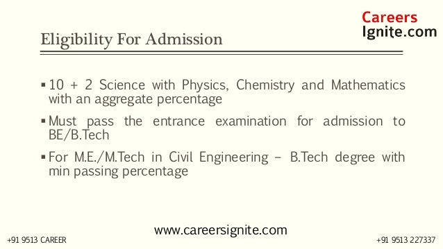 Civil Engineering Courses, Colleges, Eligibility Slide 3