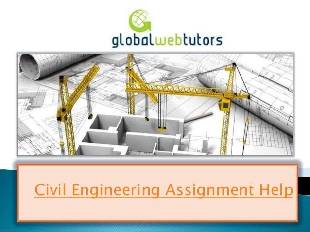 Civil Engineering Assignment Help-Homework Help By Engineers