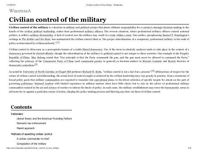 civilian control of the military and myanmar role