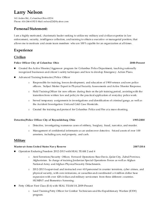 list security clearance on resume