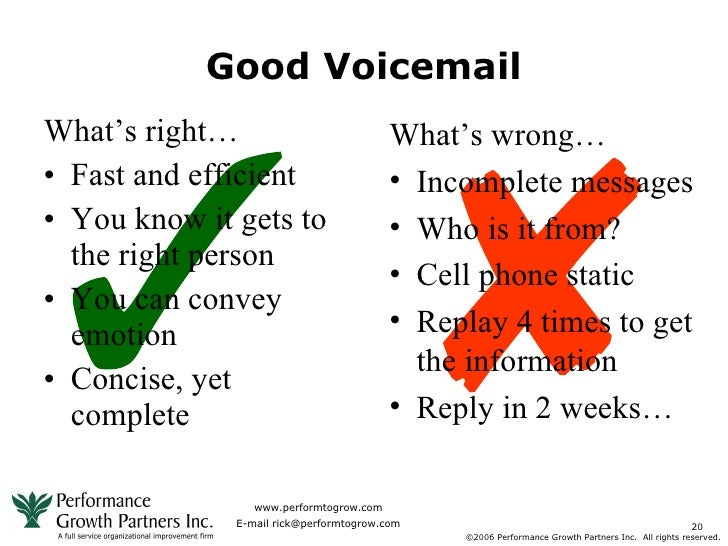 Voicemail template for business.