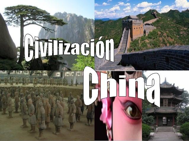 La civilización china surgió en la llanura regada por elrío Hoan-Ho (Amarillo) y desde allí se expandióprogresivamente has...