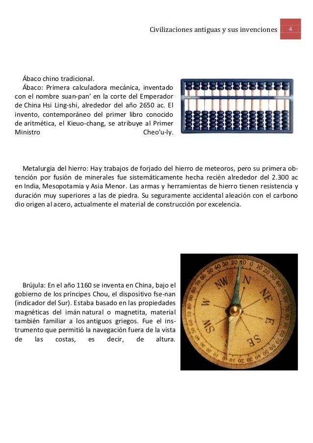 Civilizaciones antiguas y sus invenciones   4   Ábaco chino tradicional.   Ábaco: Primera calculadora mecánica, inventadoc...