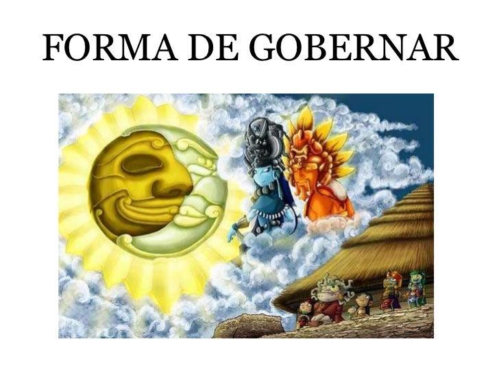 FORMA DE GOBERNAR