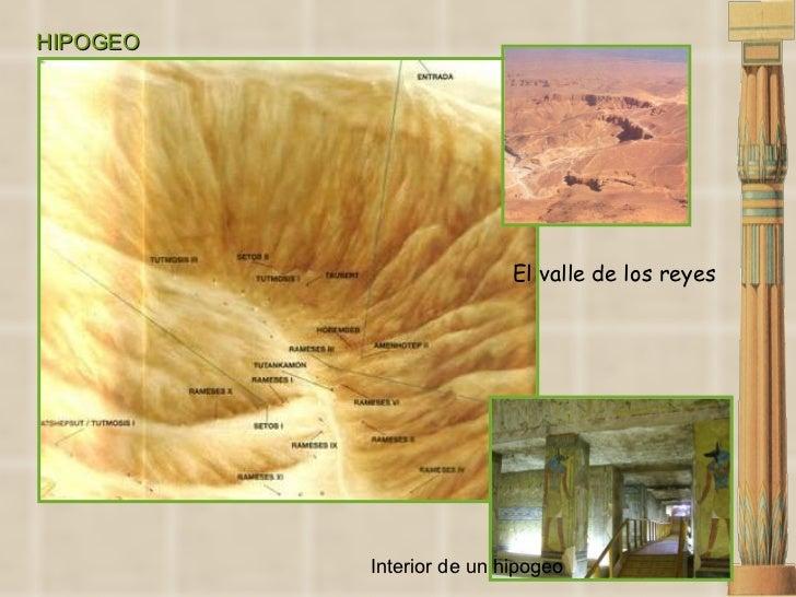 HIPOGEO El valle de los reyes Interior de un hipogeo