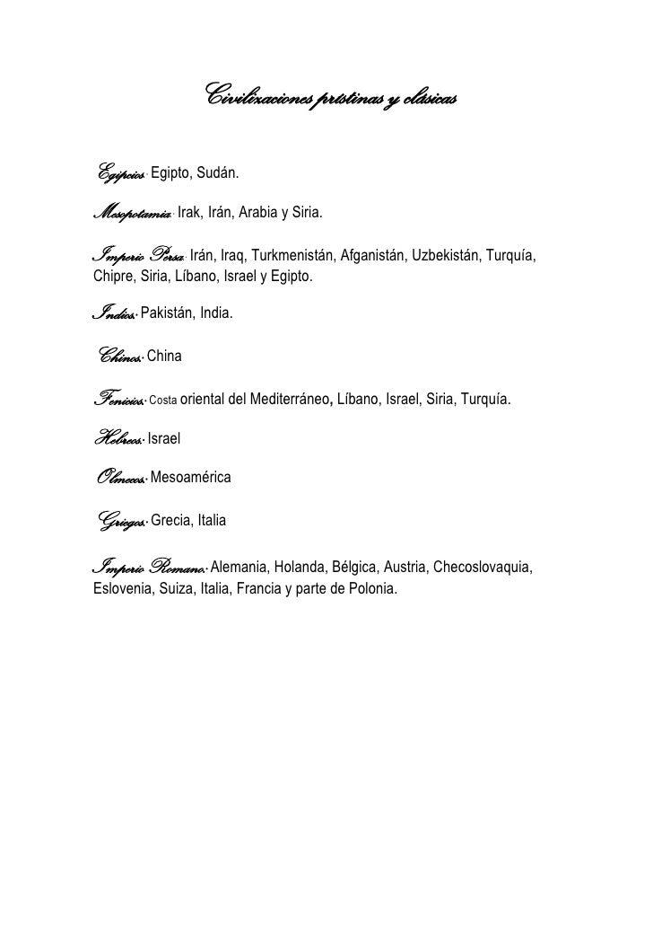 Civilizaciones prístinas y clásicas Slide 2