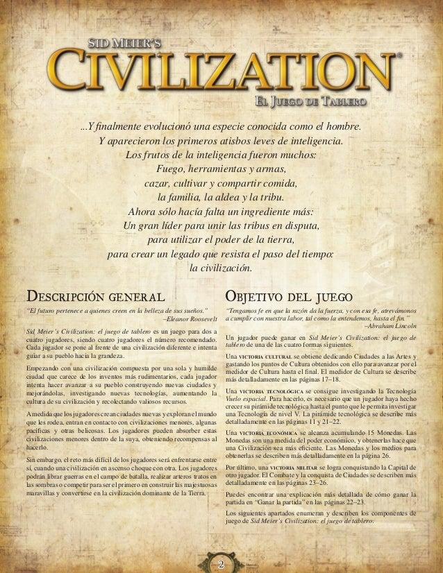 Civilization el juego de tablero (Reglas) - Juego de mesa Slide 2