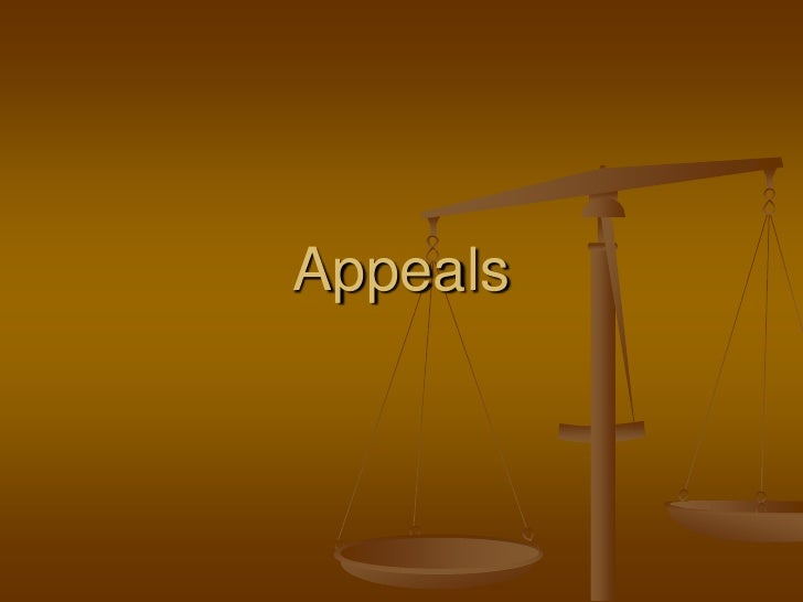 Appeals<br />