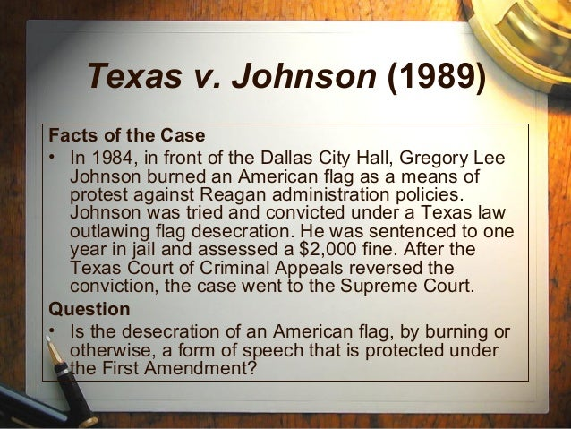 Facts and Case Summary - Texas v. Johnson