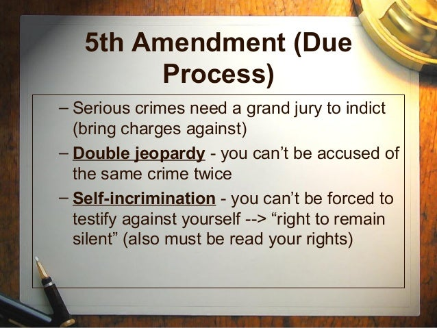 fifth amendment and double jeopardy essay Below is an essay on the fifth amendment from anti essays, your source for research papers, essays, and term paper examples sanje sripanjalingam assignment #1  as discussed in class it protects citizens against two main aspects in a criminal case which are self-incrimination and double jeopardy.