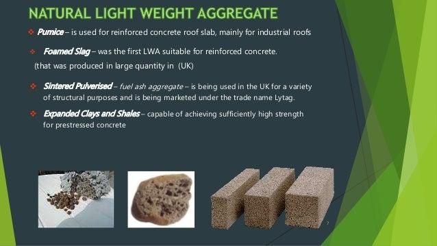 Light Weight Aggregate Ppt