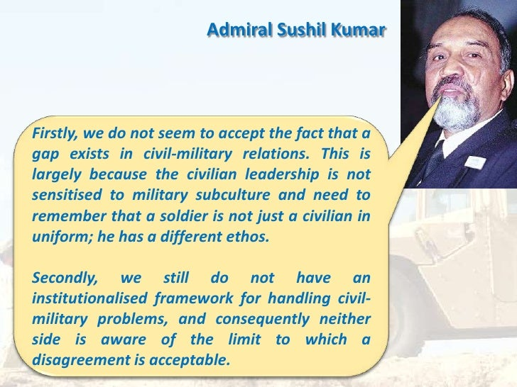 civil military relationship in india