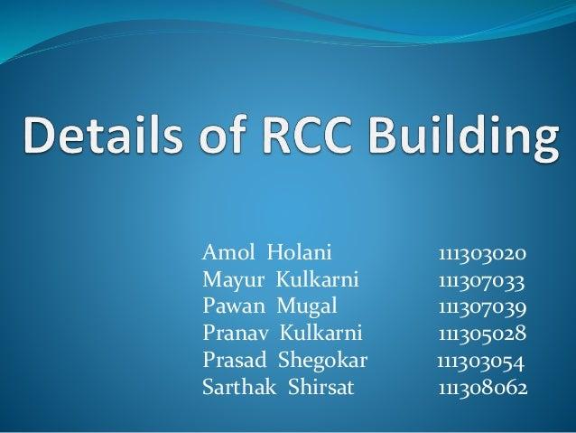 Details Of Rcc Building