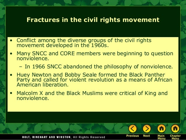 the civil rights movement and the kerner Lyndon b johnson's role in the civil rights movement johnson signed the civil rights act of 1964 after john f kennedy was assassinated it was the biggest legislation dealing with civil rights since after the civil war.