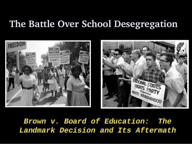 aftermath of the brown v board Brown v board of education of topeka, 347 us 483 (1954), was a landmark united states supreme court case in which the court declared state laws establishing.