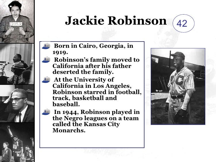 an essay on jackie robinson the end of segregation in baseball Although several people in major league baseball tried to end segregation in the sport, no skip to breaking the color line: 1940 to the jim crow policies of baseball changed forever when branch rickey and jackie robinson of the negro league's kansas city monarchs agreed to a.