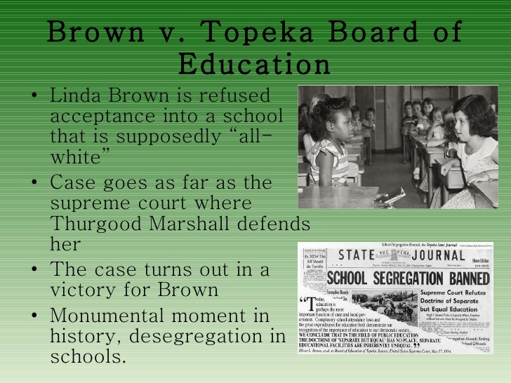 an analysis of brown versus board of education of topeka Find a summary, definition and facts about the brown vs board of education for  kids  board of education of topeka, and was taken by thurgood marshall to the .