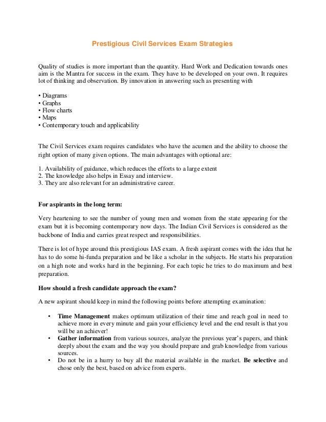 Essays for civil services mains
