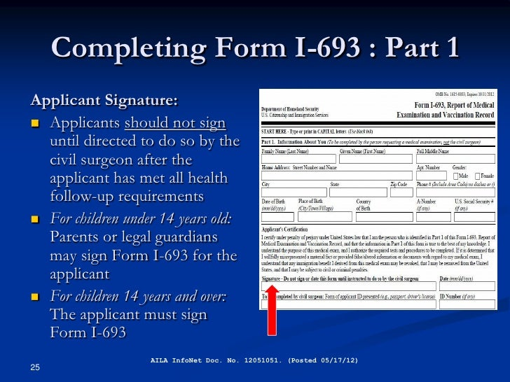 Immigration Medical Exams and the I-693 Form