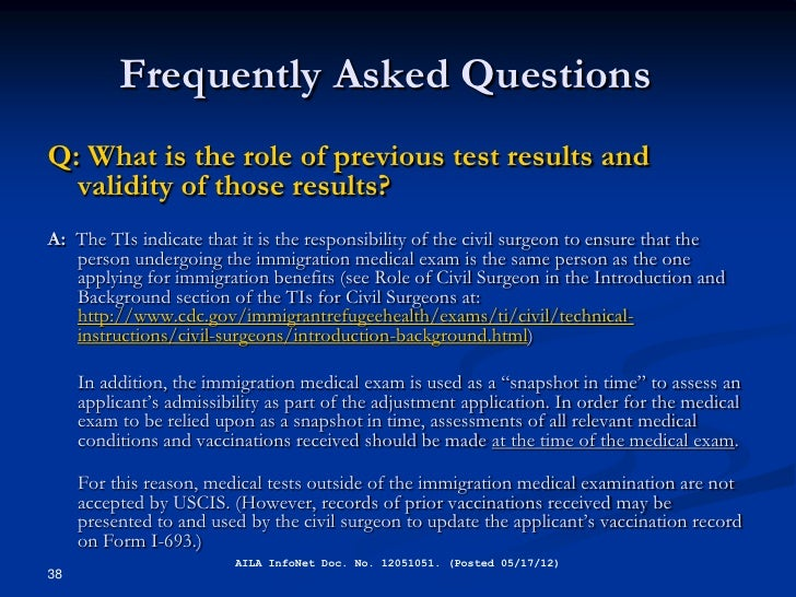 Immigration Medical Exams And The I 693 Form