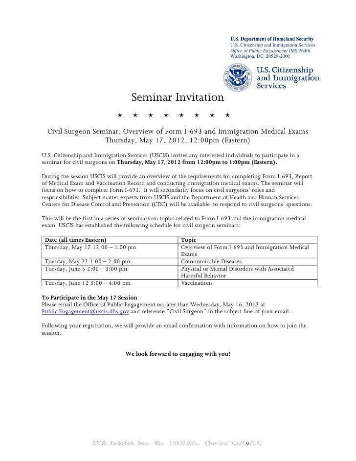 Immigration Medical Exams And The I Form