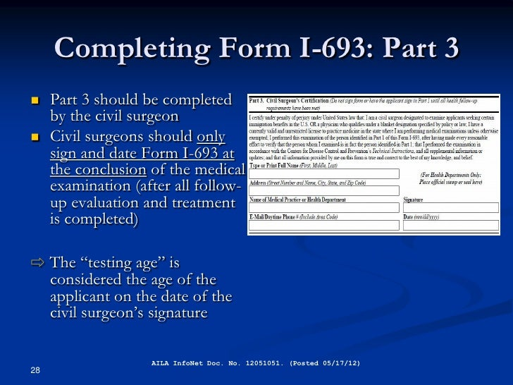 Civil Surgeon Overview From Uscis
