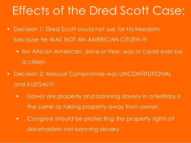 an analysis of the slavery issue in popular dred scott decision Dred scott dred scott v sandford, otherwise known as the dred scott decision, was a case decided by the supreme court of the united states in 1857 and seen as a landmark decision in the debate surrounding the constitutionality and legality of slavery.