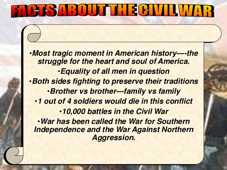 •Most tragic moment in American history----the   struggle for the heart and soul of America.         •Equality of all men ...