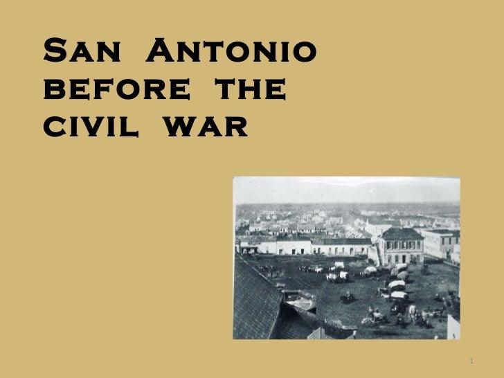 San  Antonio  before  the civil  war