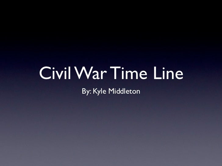 Civil War Time Line     By: Kyle Middleton